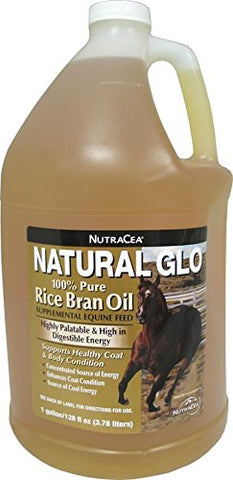 Manna Pro Natural Glo Rice Bran Oil, 1-Gallon