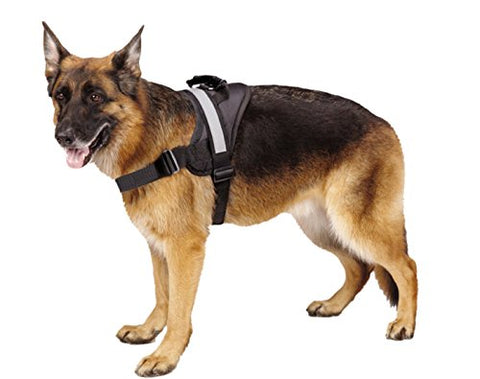 Big Dog Soft Reflective No Pull Black Harness Size Xl 36-46Inch