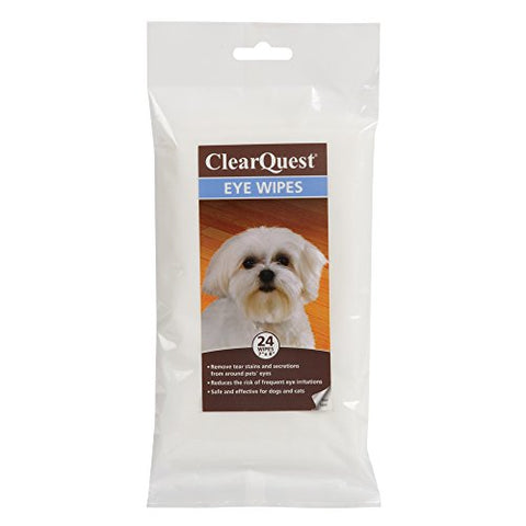 Clearquest Eye Wipes  Easy-To-Use Wipes That Gently Remove Tear Stains And Secretions From Around Dogs' And Cats' Eyes,