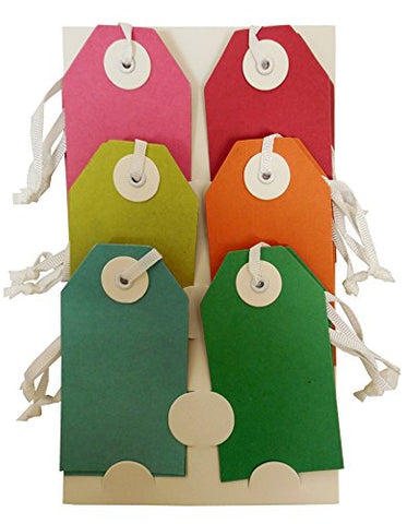 The Gift Wrap Company 12-Count Recycled Gift Tags, Eco Brights