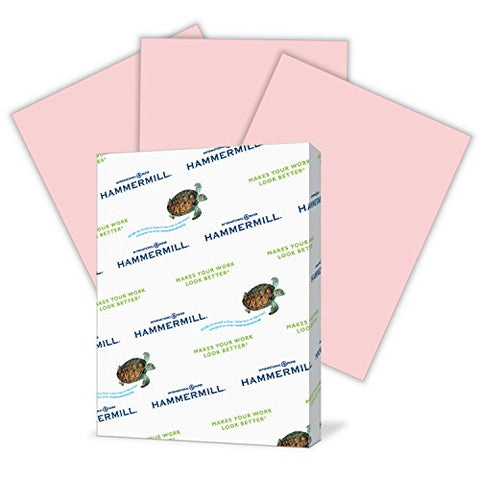 Hammermill Colored Paper, Pink Printer Paper, 20Lb, 11X17 Paper, Ledger Size, 500 Sheets / 1 Ream, Pastel Paper, Colorful Paper (102368R)