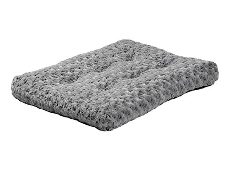 Plush Pet Bed | Ombr Swirl Dog Bed &Amp; Cat Bed | Gray 17L X 11W X 1.5H - Inches For Toy Dog Breeds