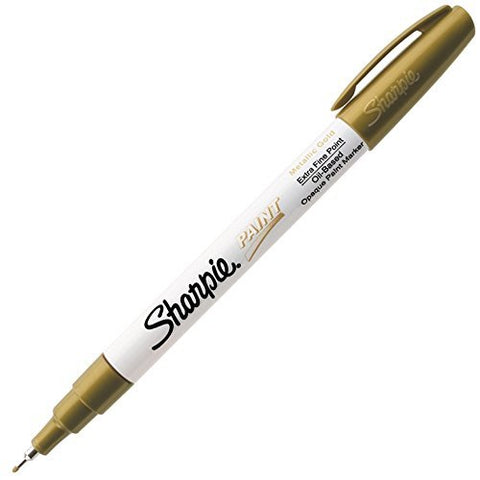 Sharpie Oil-Based Paint Marker, Extra Fine Point, Gold Ink