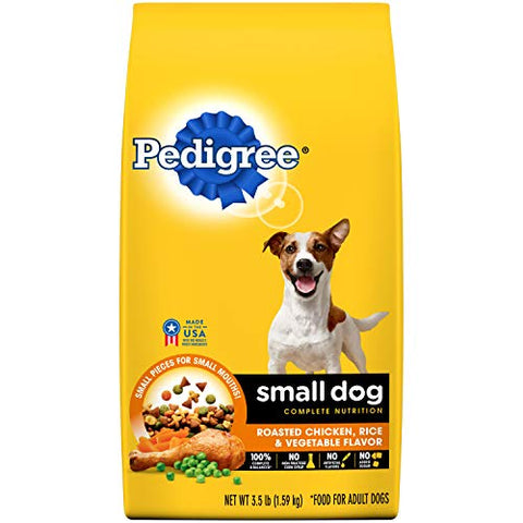 Pedigree Small Dog Complete Nutrition Adult Dry Dog Food Roasted Chicken, Rice &Amp; Vegetable Flavor, 3.5 Lb. Bag