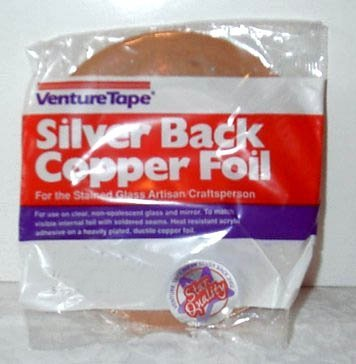3/16 Inch Venture Silver Backed Copper Foil1.5 Mil
