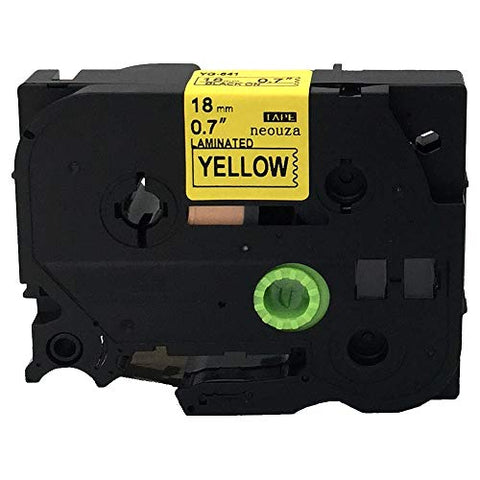 Black On Yellow Label Tape Compatible For Brother Tz 641 Tze 641 18Mm P-Touch 8M
