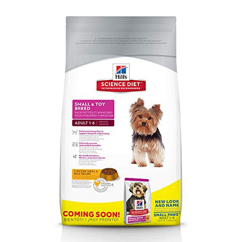 Hill'S Science Diet Adult Small &Amp; Toy Breed Dog Food, Chicken Meal &Amp; Rice Recipe Dry Dog Food, 15.5 Lb Bag