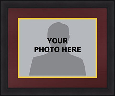 Ncaa College Picture Frames With Team-Themed Matting - The Big Ten (Minnesota Golden Gophers (Maroon Matting, Yellow Trim), 8  X 10  Photo In 13  X 16  Frame)