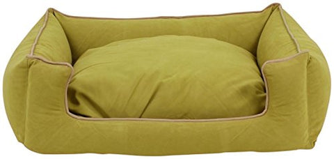 Carolina Pet Microfiber Kuddle Lounge Low Profile Bed For Pets, Medium, Willow/Khaki