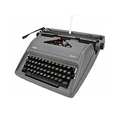 Royal Epoch Classic Portable Manual Typewriter - Gray