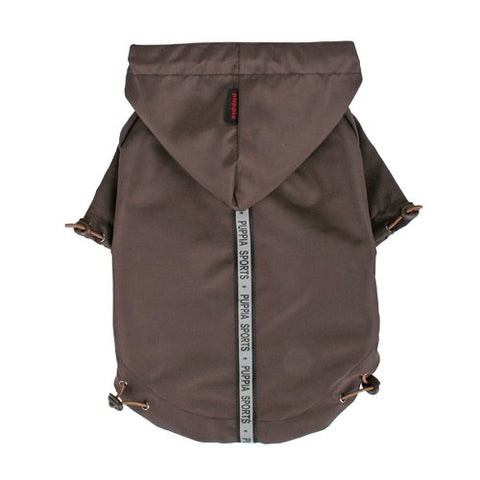 Puppia Authentic Base Jumper Raincoat, Medium, Brown