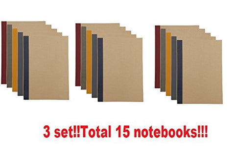 Muji Planted Tree Paper Note Book (Hard To Bleedthrough) 15 Set B5  90 Sheets  6Mm Ruled Paper,5 Colors From Japan 76316145