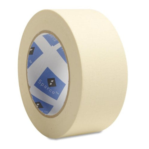 Sparco Economy Masking Tape, 3-Inch Core, 2 X 60 Yards, Natural Kraft (Spr64003)