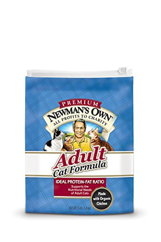 Newman'S Own Adult Cat Dry Formula, 3-Pound Bags