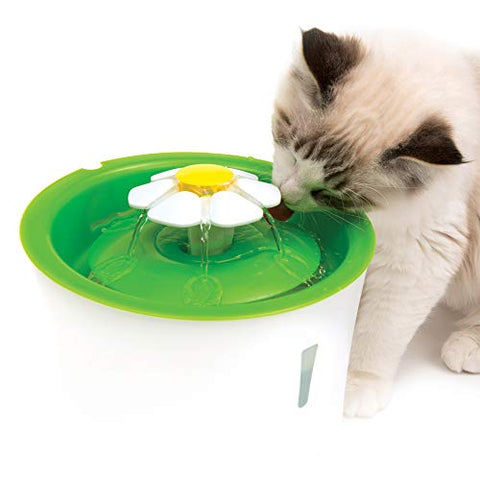 Catit Flower Fountain: 3L Cat Water Fountain With Triple-Action Filter