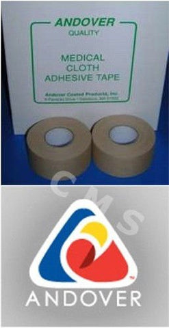 Andover #201 Tan Cloth Zinc Oxide Adhesive Medical Strapping Tape 1/2 X10Yds 24/Bx Usa