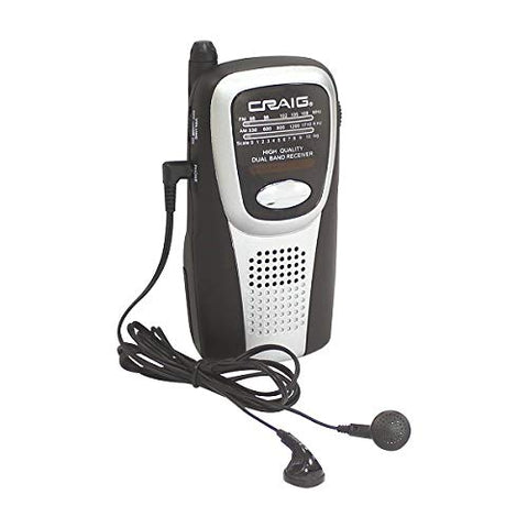Craig Electronics Cs2500 Am/Fm Pocket Radio With Speaker And Headphones