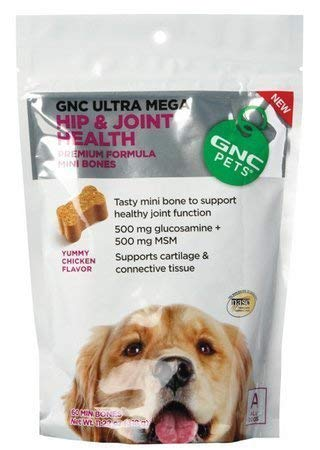 Gnc Pets Ultra Mega Hip And Joint Health 60 Mini Bones