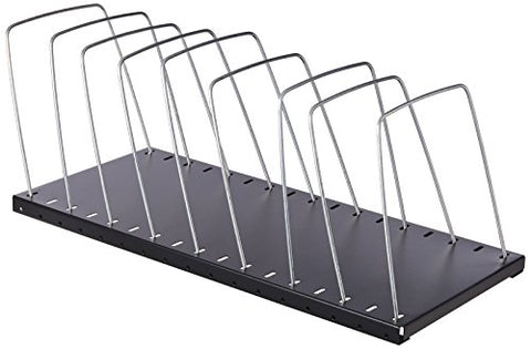 Mmf Industries Adjustable Steel Wire Rack, Black (2649012Bk)