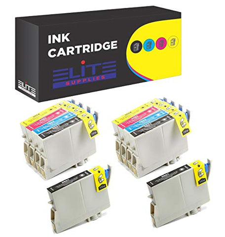 Aria Supplies Remanufactured Inkjet Cartridges For Epson T060 T060120 T060220 T060320 T060420 Compatible With Stylus C68, C88, C88Plus, Cx3800, Cx3810, Cx4200, Cx4800, Cx5800F, Cx7800