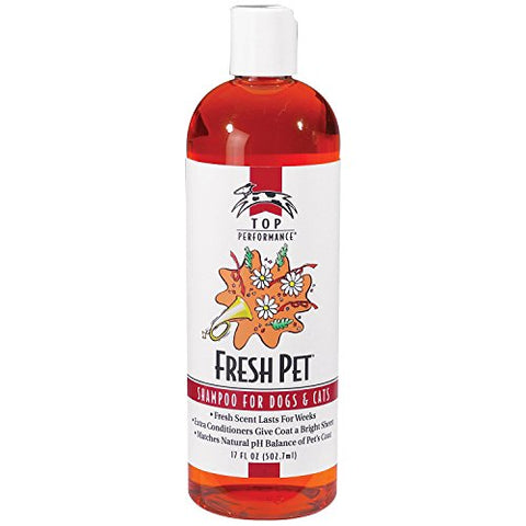 Top Performance Fresh Pet Shampoo Prevents Mats And Tangles  Matches Natural Ph Balance Of Pets Coat And Skin, 17 Oz.