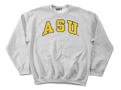 Ncaa Appalachian State Mountaineers 50/50 Blended 8-Ounce Vintage Arch Crewneck Sweatshirt, Large, Sport Grey