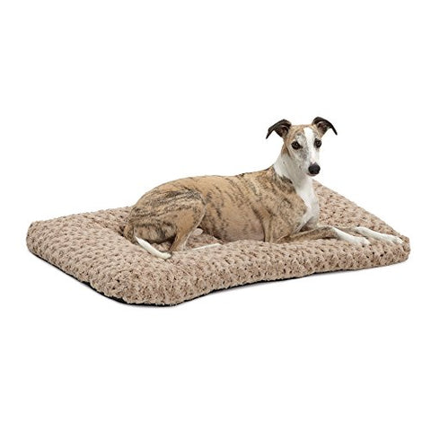 Plush Dog Bed | Ombr Swirl Dog Bed &Amp; Cat Bed | Mocha 35L X 23W X 2H - Inches For Med. / Large Dog Breeds