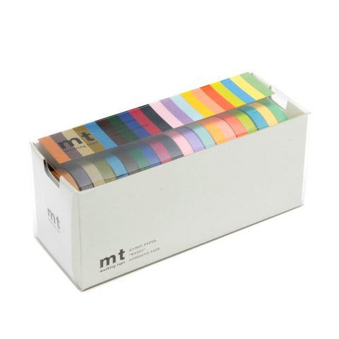Mt Washi Masking Tapes, Set Of 20, Bright &Amp; Cool Colors (Mt20P002)