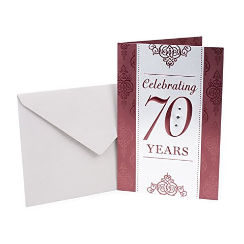 Hallmark 70Th Birthday Card (Scrollwork Pattern)