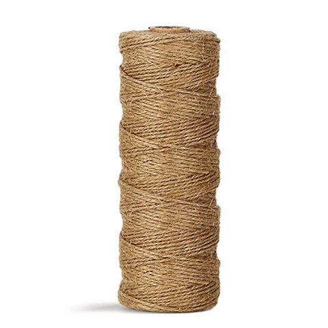 Natural Jute Twine Durable Industrial Packing Materials Heavy Duty Natural Brown Twine Jute Rope/String 328Ft/100M For Arts, Crafts &Amp; Gardening Applications