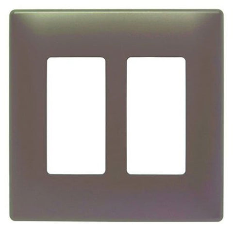 Pass &Amp; Seymour Swp262Dbbpcc10 Two Gang Decorative Wall Plate, Bronze
