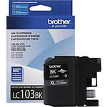 Brother Genuine High Yield Black Ink Cartridge, Lc103Bk, Replacement Black Ink, Page Yield Up To 600 Pages, Amazon Dash Replenishment Cartridge, Lc103