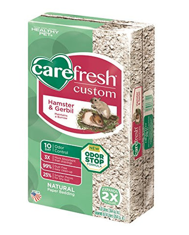 Carefresh Custom Hamster/Gerbil Pet Bedding, 14 L, Natural