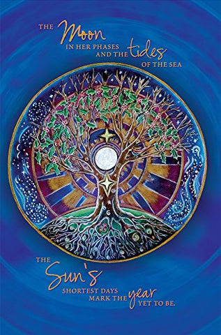Tree-Free Greetings Econotes 12-Count Winter Solstice Card Set With Envelopes, 4  X 6 , Mandala (93480)