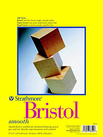 Strathmore 300 Series Bristol Smooth Pad, 14 X17  Tape Bound, 20 Sheets