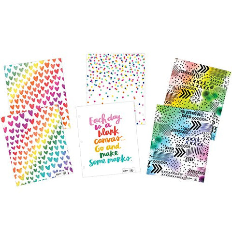 Avery + Amy Tangerine Designer Collection 3-Hole Punched, 100-Sheet Capacity, Assorted Designs, 6 Folders (28324)