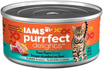 Iams Purrfect Delights Flaked Adult Wet Cat Food, Variety Pack Seafood, 3 Oz.