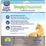Fresh Step Simply Unscented Lightweight Litter, Clumping Cat Litter, 15.4 Pounds