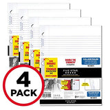 Five Star Loose Leaf Paper, 3 Hole Punched, Reinforced Filler Paper, College Ruled, 11  X 8-1/2 , 100 Sheets/Pack, (38032)