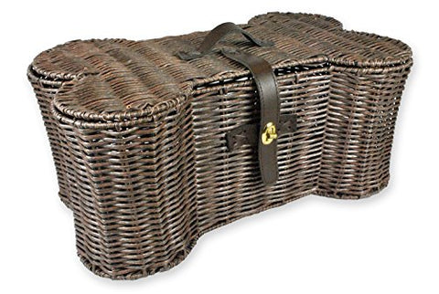 Bone Dry Dii Large Wicker-Like Bone Shape Storage Basket, 24X15X9, Pet Organizer Bin For Home Dcor, Pet Toy, Blankets, Leashes And Food
