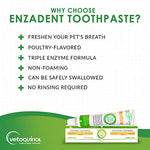 Vetoquinol Enzadent Enzymatic Toothpaste For Cats &Amp; Dogs  3.2 Oz, Poultry Flavor  Triple Enzyme Formula For Healthy Teeth &Amp; Gums  Oral Dental Care: Removes Plaque, Polishes Teeth &Amp; Freshens Breath