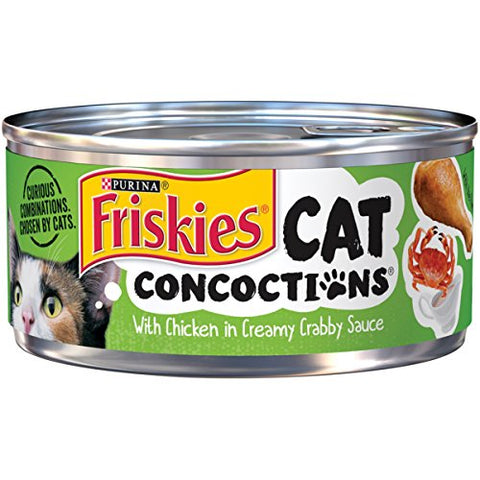 Purina Friskies Cat Concoctions With Lamb In Clam Flavored Sauce Adult Wet Cat Food - (24) 5.5 Oz. Cans