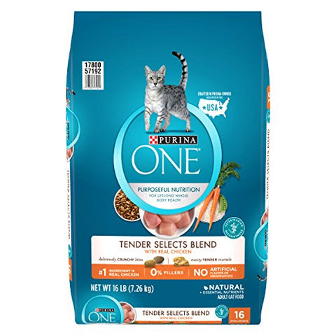 Purina One Tender Selects Blend With Real Chicken Adult Dry Cat Food - 16 Lb. Bag