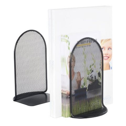 Safco Products 3273Bl Onyx Mesh Book Ends, Black