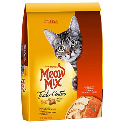 Meow Mix Tender Centers, 13.5-Pound, Salmon &Amp; Chicken