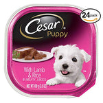 Cesar Canine Cuisine Puppy Wet Dog Food With Lamb And Rice,  3.5 Oz. Trays