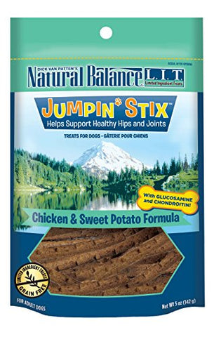 Natural Balance L.I.T. Limited Ingredient Treats Jumpin' Stix Dog Treats, Grain Free, Chicken &Amp; Sweet Potato Formula, 5-Ounce