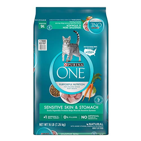 Purina One Sensitive Systems Adult Dry Cat Food - 16 Lb. Bag