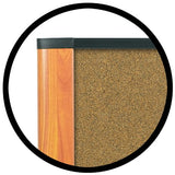3M Cork Board, 36 X 24-Inches, Widescreen Light Cherry-Finish Frame