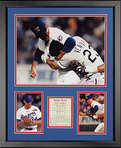 Legends Never Die Nolan Ryan Fight Framed Photo Collage, 16  X 20
